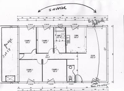 Ebauche du plan de la maison la construction de notre for Maison phenix garage