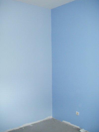Peinture chambre t lio la construction de notre maison for Peinture chambre bleu