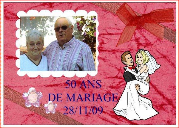 Bon anniversaire de mariage 50 ans l gros bisous l blog de tatanounou88350 - Anniversaire mariage 4 ans ...