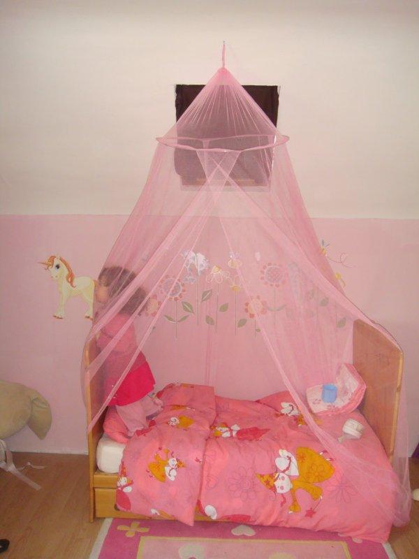 voila le voile de princesse de l ane au dessus de son lit offert par mamie laure mes photos. Black Bedroom Furniture Sets. Home Design Ideas