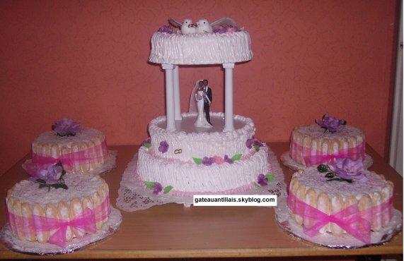 Modèles décoration de gâteau thématique mariage antillais