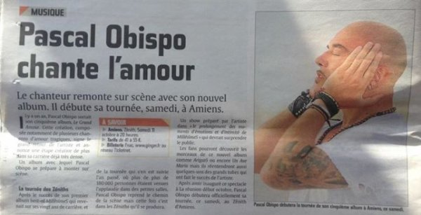 Jour J @ObispoPascal lance le show #LeGrandAmourTour au Z�nith d' #Amiens