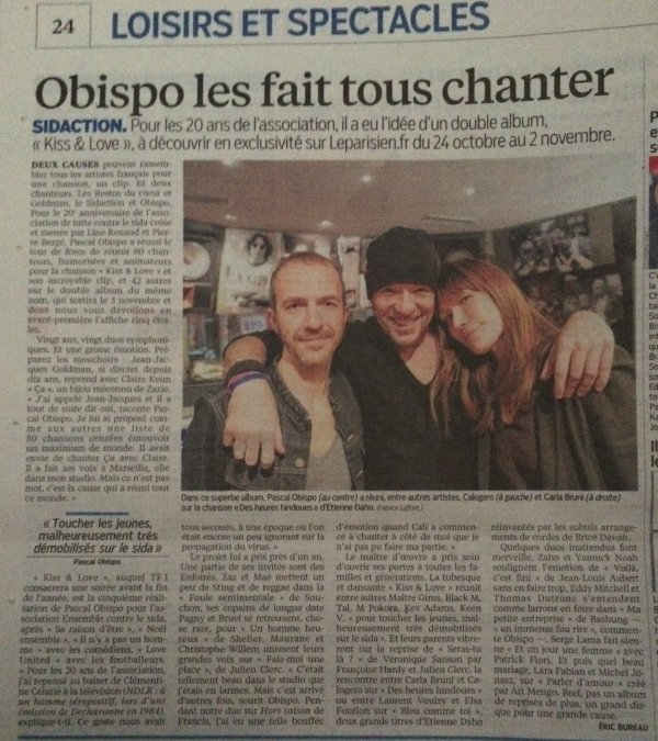 J-1 #KissAndLove l'album Ev�nement #Sidaction 20 ans on en parle - by @ObispoPascal - @Paradispop