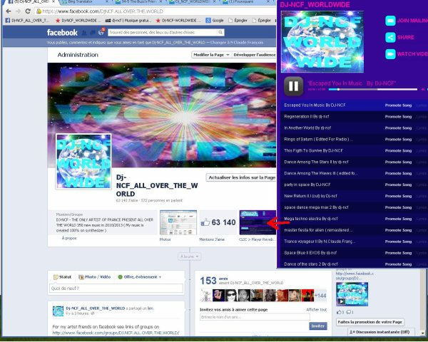 Dj-NCF_ALL_OVER_THE_WORLD Sur Facebook ( 64.000 Fans )