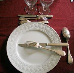 Bien se tenir table ma table la r gle de l 39 art - Disposition des couverts en fin de repas ...