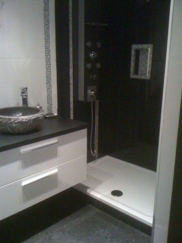R alisation d 39 une salle de bain carrelage mosaique pose for Mosaique salle de bains