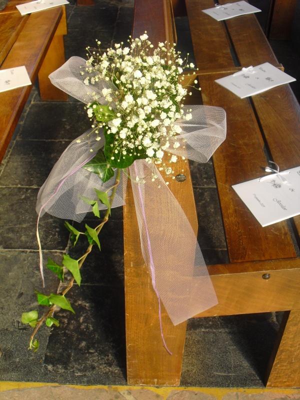 mariage 10 bouquets de bancs d 39 glise a la fleur qui parle fleuriste tourcoing. Black Bedroom Furniture Sets. Home Design Ideas