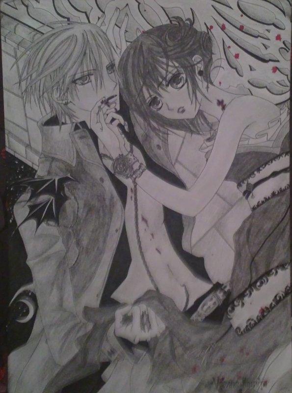 comment dessiner yuki de vampire knight