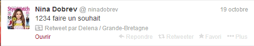 nina a twitter le 19 octobre 2013