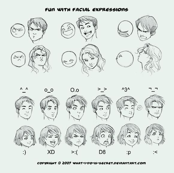 comment dessiner visage