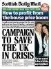 Karen Minier � la une du Scottish Daily Mail