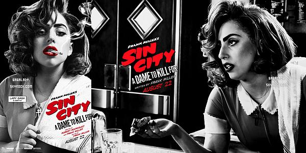 Les deux posters pour � Sin city 2 � avec Lady Gaga qui joue Bertha. Vous aimez?