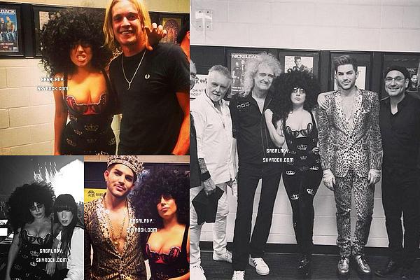 """27.08.2014 - Lady Gaga � rejoint Queen et Adam Lambert pour une performance l�gendaire. Gros Top!   Gaga � r�aliser un grand r�ve en chantant avec Queen le groupe de la chanson de """"Radio Gaga"""" dont elle doit son nom """"Lady Gaga""""."""