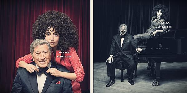 """- Lady Gaga et Tonny Bennett pour """"Parade"""" par Ben Barker. Pour la promo de Cheek To Cheek."""