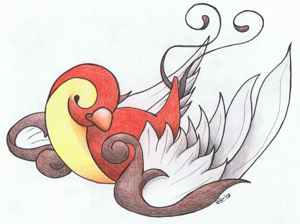 Hirondelle old school ao t 2008 projet pour futur tatouage art will survive - Tatouage hirondelle old school ...
