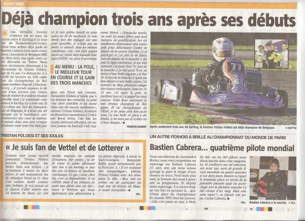 Deux Fexhois champions de Belgique de karting !!!