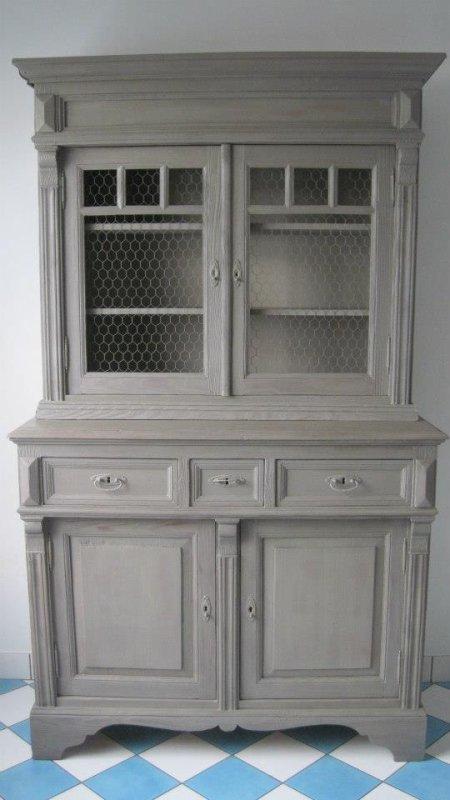Meuble en sapin restaur en c ruse grise nouvelle for Ceruser un vieux meuble