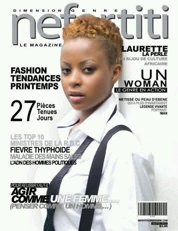 Laurette La Perle en couverture du magazine Nefertiti