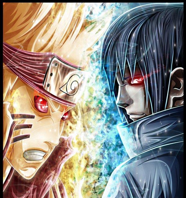 Naruto bijuu mode vs madara