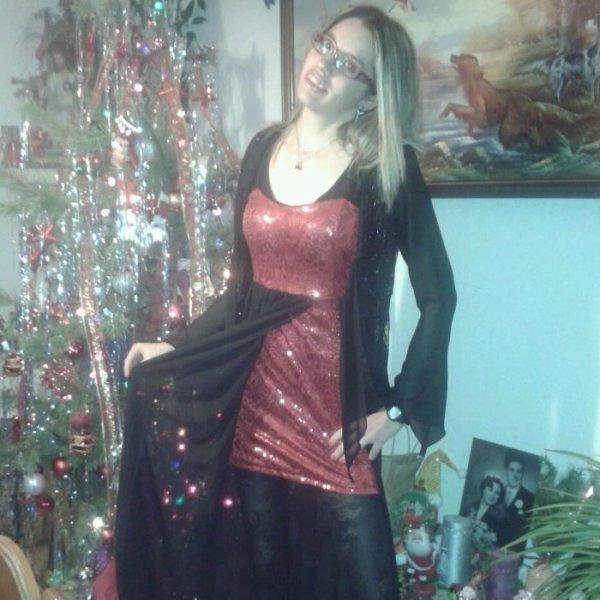 Moi en robe de soir�e