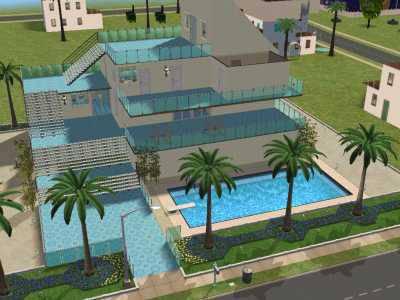 Notre maison de devant tristesse sims for Maison sims 4 piscine