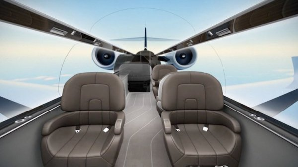 Un jet innovant nous offre une vue panoramique sur le monde ext�rieur, en immersion totale (Hors-Sujet 40)