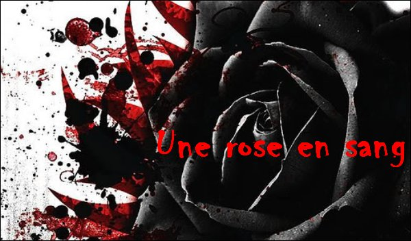 Une rose en sang !