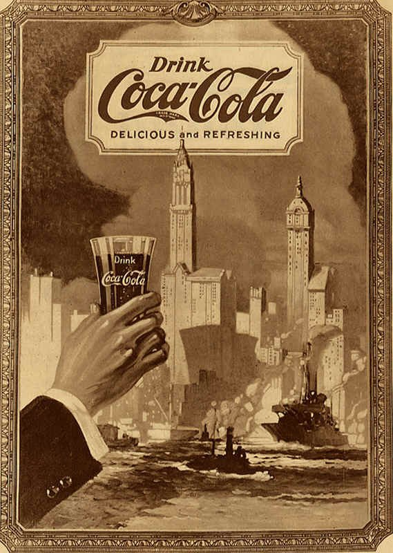 anciennes affiche de pub coca cola mon blog. Black Bedroom Furniture Sets. Home Design Ideas