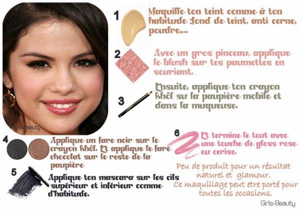 Make up maquilles toi comme selena gomez un maquillage for Miroir pour se maquiller
