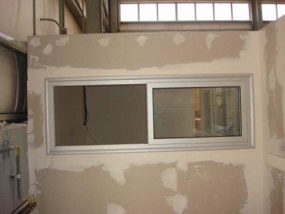 cloison ba13 avec fen tre en alu faux plafonds et d coration. Black Bedroom Furniture Sets. Home Design Ideas