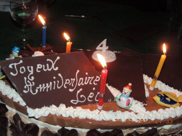 Gateau anniversaire leo 4 ans ma familles - Gateau anniversaire 4 ans ...