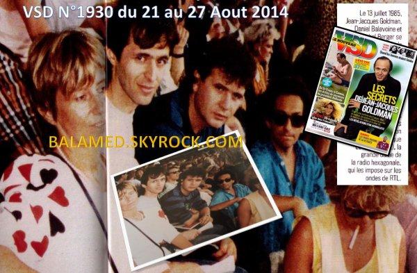 Balavoine dans le Magazine VSD N� 1930 du 21 au 27 Ao�t 2014