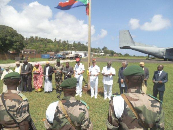 Fin de la formation militaire à Mwali : Remise d'attestations à la 5ème compagnie de la Fcd