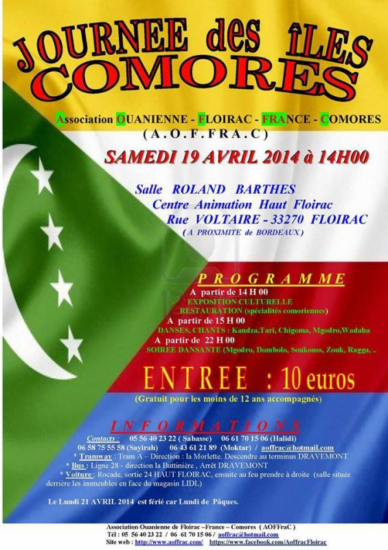 GRAND �V�NEMENT CULTUREL DE L'AOFFRAC