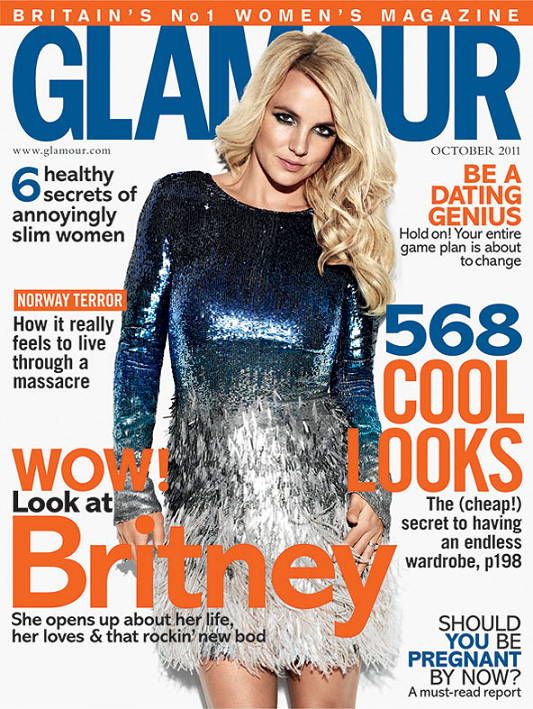 magazine britney en couverture de glamour uk britney spears. Black Bedroom Furniture Sets. Home Design Ideas
