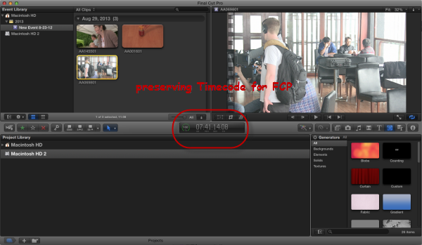 Canon XF100 MXF FCP Workflow: Convert MXF to Prores LT