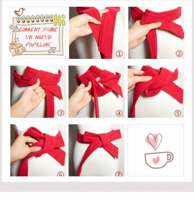 Comment faire un noeud papillon blog bla bla de la fashion - Comment faire un joli noeud ...