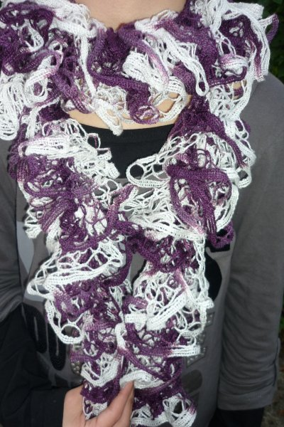 comment tricoter un foulard a froufrou