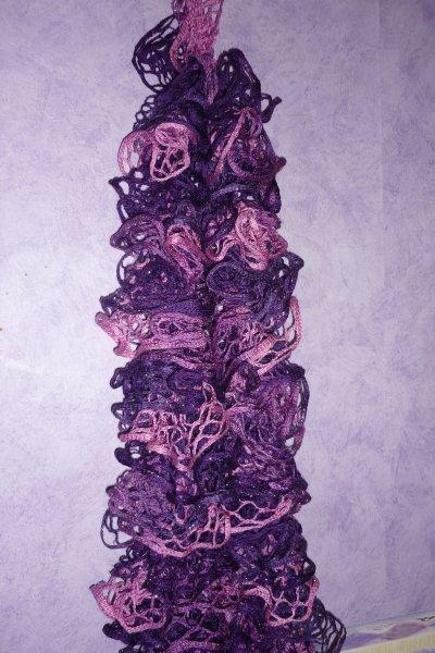 Tricoter une echarpe froufrou - Tricoter une echarpe facilement ...