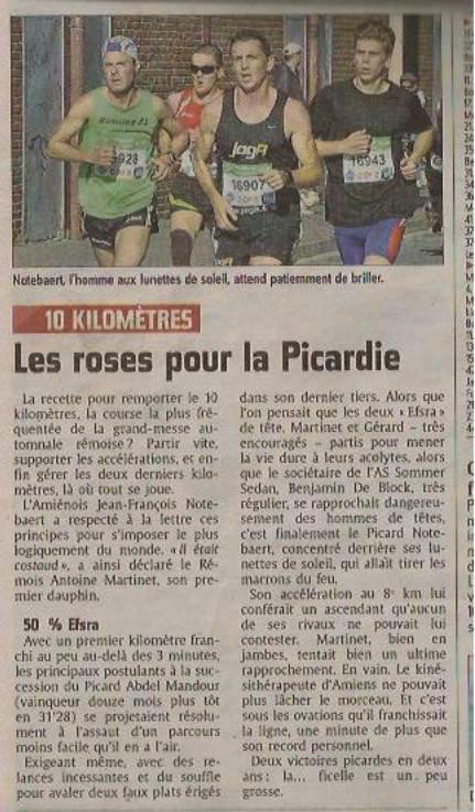 Victoire 10 km RATJ - La presse en parle...