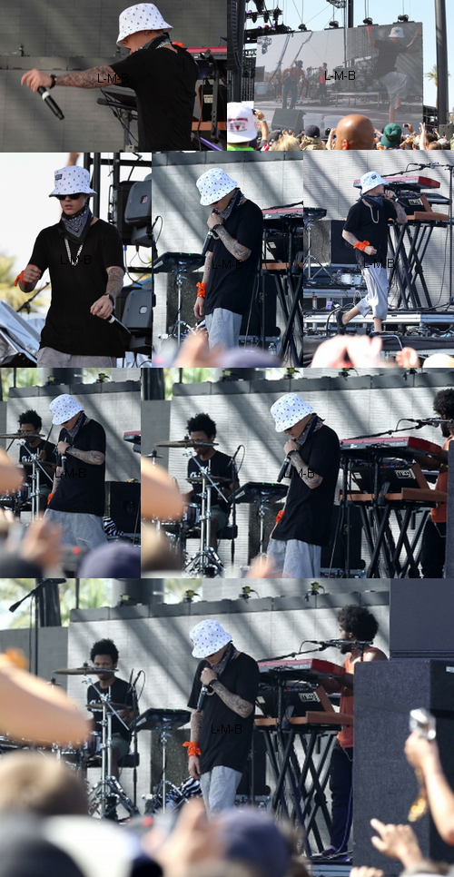 Justin au Coachella Valley Music & Arts Festival en Californie