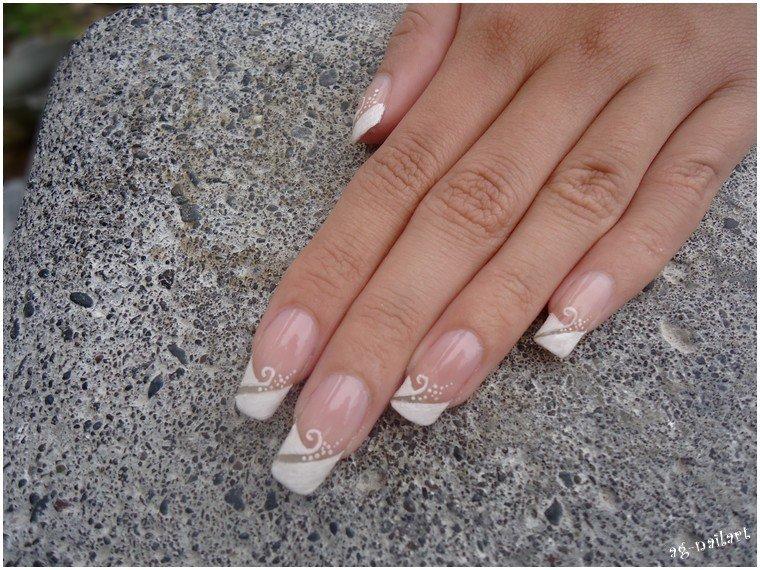 nail art mariage french manucure par tartofraises mon univers nail art sur ongles naturels. Black Bedroom Furniture Sets. Home Design Ideas