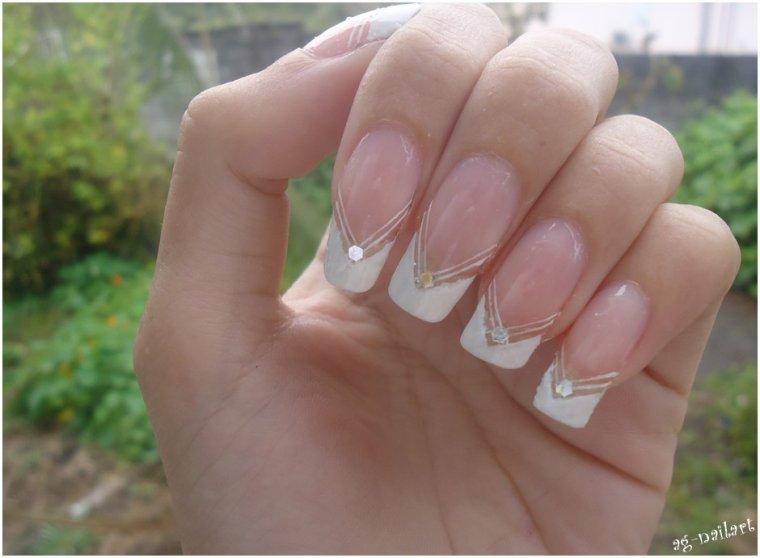 mes nail art mariage suite mon univers nail art sur ongles naturels. Black Bedroom Furniture Sets. Home Design Ideas