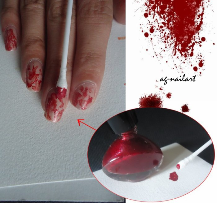 Nail art Halloween n°1 : Vampire - Mon univers nail art sur ongles