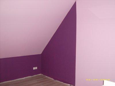 La chambre de ma lys construction de notre maison for Chambre couleur prune