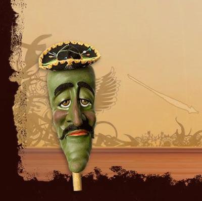 josé jalapeño on a stick sur un baton est un poivron méxicain il se