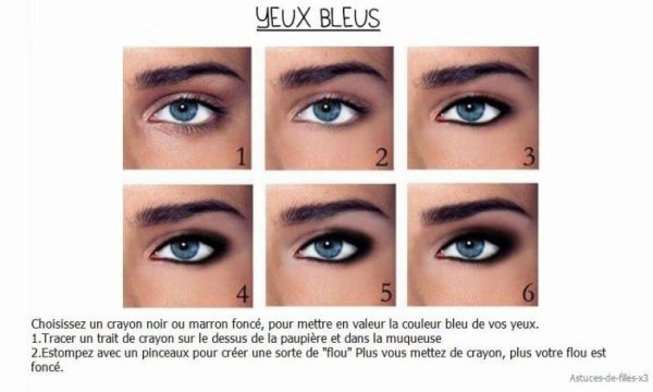 Maquillage yeux bleu swaag mode - Yeux bleus maquillage ...