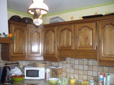 cuisine gris perle mur vert granny la rnovation de meubles sans - Cuisine Gris Perle