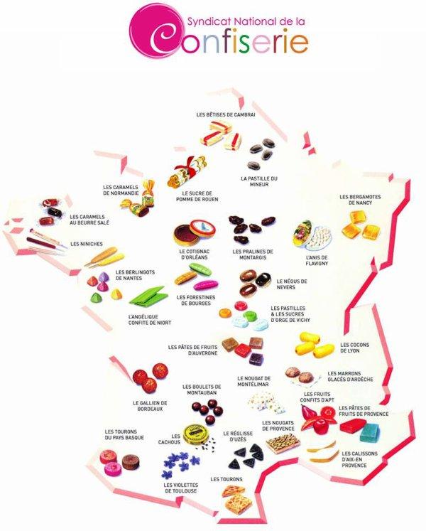 Liste Des Bonbons Dans Les Villes Francaises