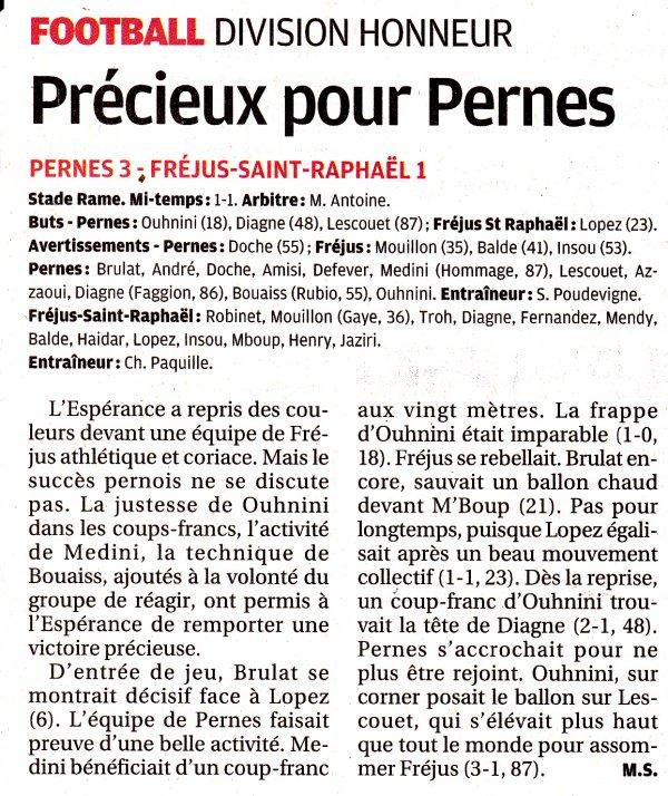 """LA RENCONTRE PERNES - FREJUS ST RAPHAEL VUE PAR """"LA PROVENCE"""""""